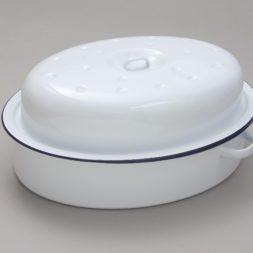 Enamel Oval Roaster with Lid 36cm