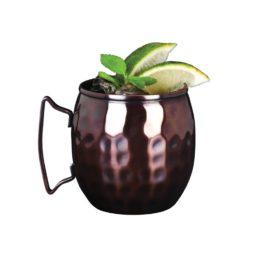 Copper Mug Barrel Hammered 14.5 oz