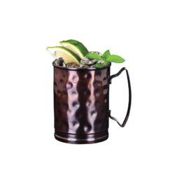 Copper Mug Straight Hammered 14.5 oz