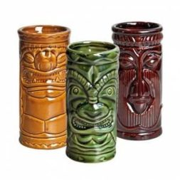 Tiki 3 Piece set Khaki,Green & Brown 8.75 oz
