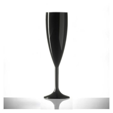 Black Champagne Flute