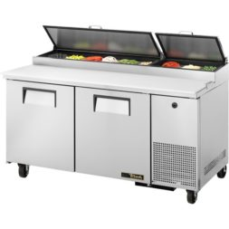 True 2 Door Pizza Prep Table TPP-67