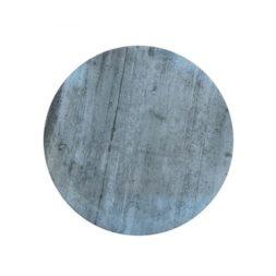Porous Concrete Bright Plate Flat Coupe 28cm