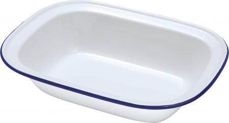 Enamel Oblong Pie Dish 16cm