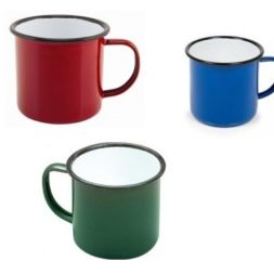 Coloured Enamel Teapot and Mug Range
