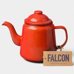 12cm Red Enamel Teapot
