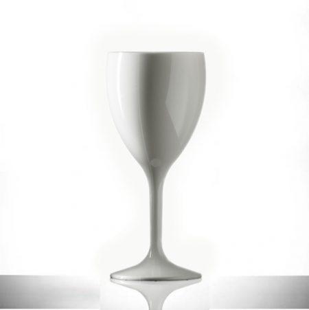 11oz Elite Premium Polycarbonate White Plastic Wine Glass