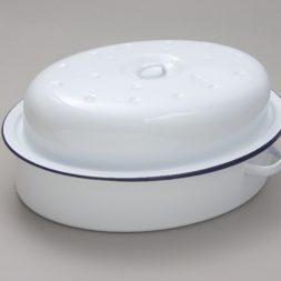 Enamel Oval Roaster with Lid 36cm