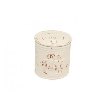Mediterraneo Coffee Jar Bianco 12 x 12.5 cm