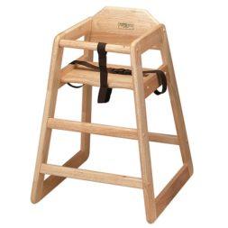 Natural Assembled High Chair