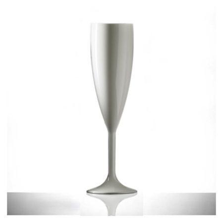 Elite Premium Polycarbonate Champagne Flute White 7oz