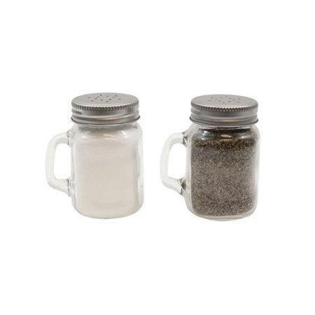 Glass Mason Salt & Pepper Shaker with Metal Lid 4.75oz