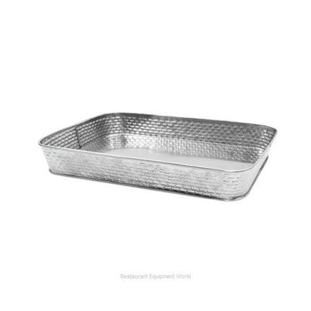 30.5x23x4cm Rectangular Platter Galvanised S/S