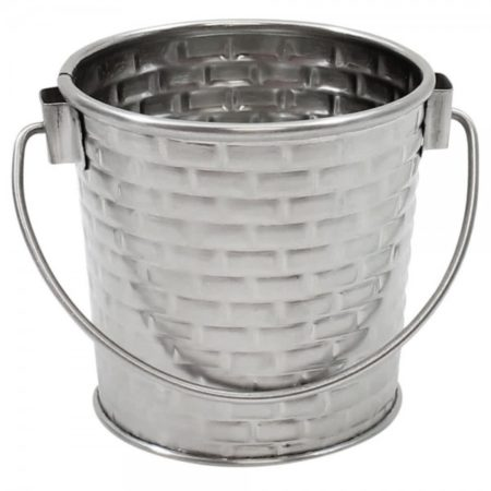 8cm dia x 8.5cm Round Pail With Handle