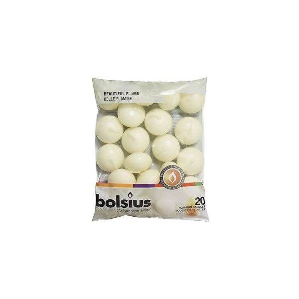 Bolsius floating Candles Ivory x 20