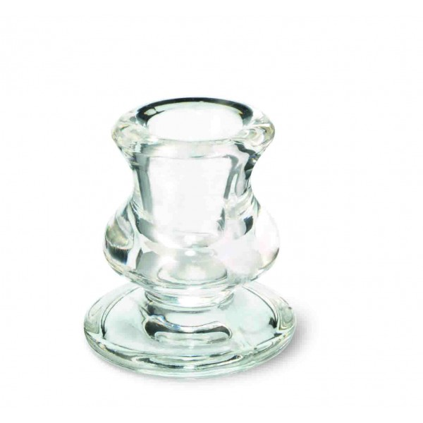 Dinner Candle Clear holder 62/57 mm