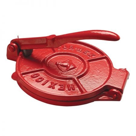 Tortilla Press Red Cast Iron 19cm Diameter