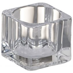 Bolsius Glass Square Tealight Holder Clear