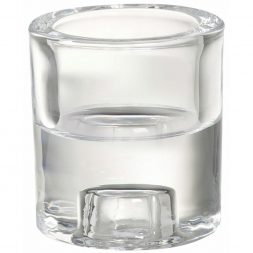 Bolsius Glass Tealight 2 in 1 Holder Clear