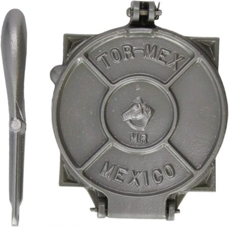 Tortilla Press Silver Cast Iron 19cm Diameter