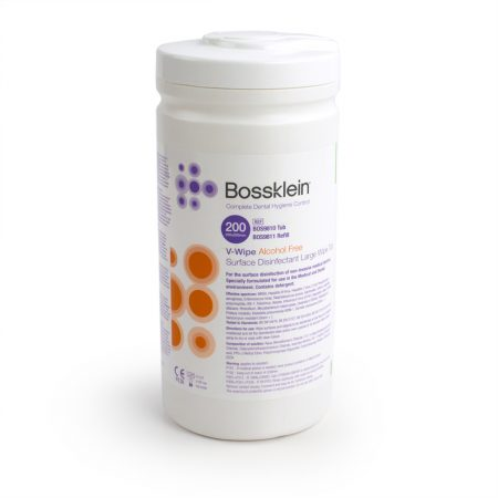 Bossklein V-Wipe Alcohol-Free Surface Disinfectant Large Wipes
