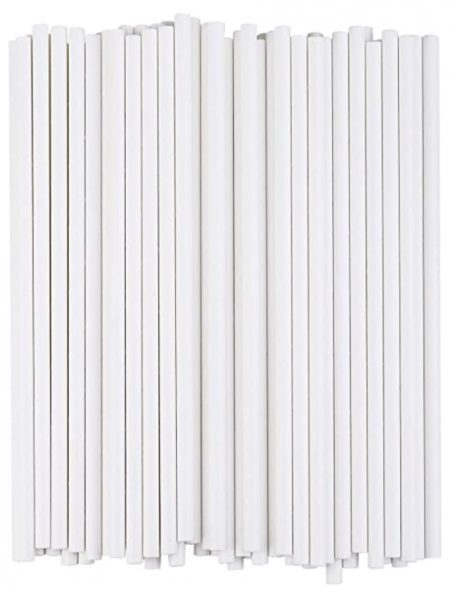 Individually Wrapped White Paper Straws PK250