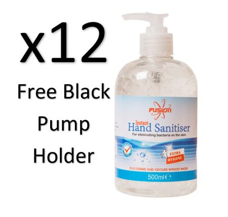 Bulk 500ml Alcohol Hand Sanitiser Gel Pack of 12