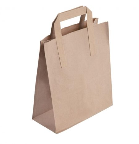 Medium Recycled Brown Paper Carrier Bags (Pack of 250)